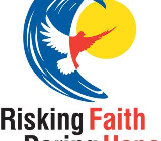 Logo of the 43rd General Council with the words Risking Faith, Daring Hope