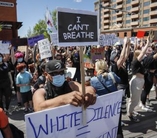 Antiracism protest, Calgary, June 2020