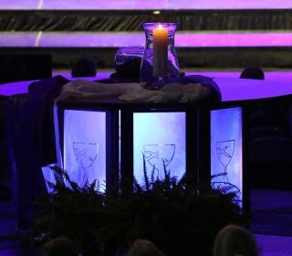 Photo of communion table at General Assembly of the Christian Church