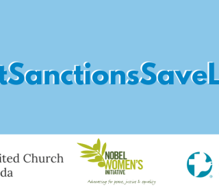 Lift Sanctions Save Lives hashtag and graphic