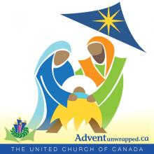 The Holy Family in illustration, which is just some of the art work from AdventUnwrapped.ca