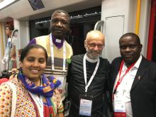 Some of the chaplains at the 22nd International AIDS Conference.