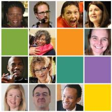 A mosaic featuring the faces of diverse United Church ministry personnel.