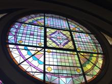 Photo of stained glass window of Trinity-St. Paul's United Church, Toronto