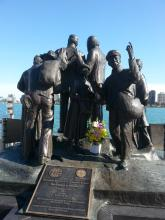 A statue commemorating the Underground Railroad in Windsor, Ontario.