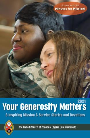 Cover of the 2021 Minutes for Mission booklet, renamed Your Generosity Matters
