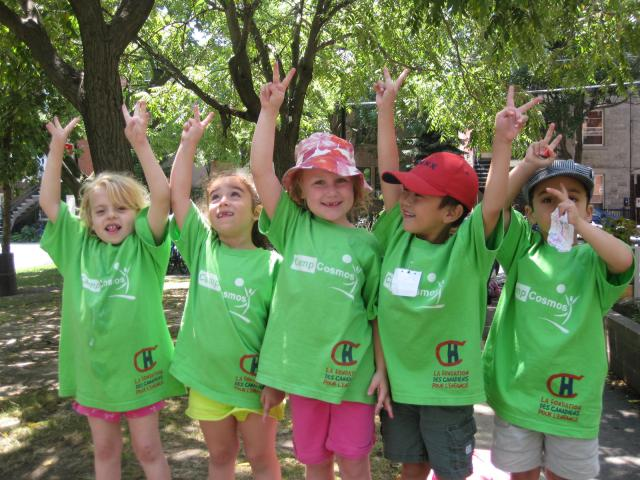 Children at Camp Cosmos in Montreal, PQ