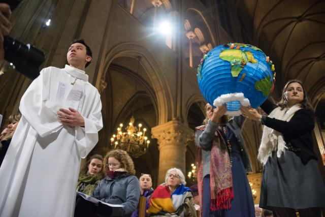 Religious leaders during COP21 climate talks