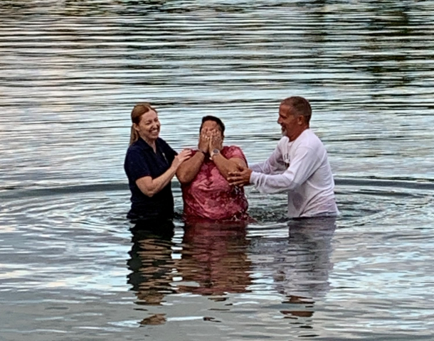 Baptism in the St. Lawrence