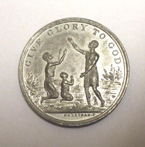 Commemorative medal marking 50 years since the abolition of slavery.