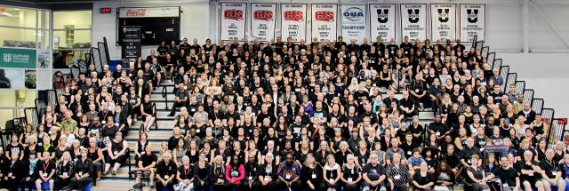Photo of GC43 attendees wearing black, July 2018