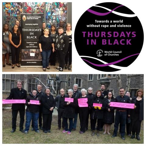 Photo collage and logo for Thursdays in Black at The United Church of Canada